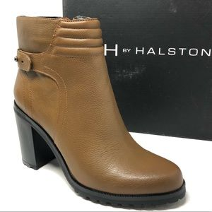H BY HALSTON Cara ankle booties 8.5 Bark brown